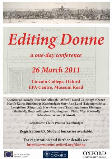 Editing Donne