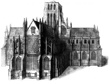 Old St Paul's Cathedral from the East - Project Gutenberg etext 16531